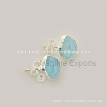 925 Sterling Silver Natural Gemstone Stud Earrings Wholesale Best Gemstone Jewelry Supplier And Manufacturer