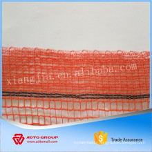 HDPE orange construction safety net with fine American construction mesh