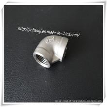 Rosca de Parafuso de Aço Inoxidável 90 Cotovelo