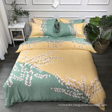 Home Product Best Quality Bedding Set Cotton Brushed Fabric Soft for Single 3PCS Bed Sheet
