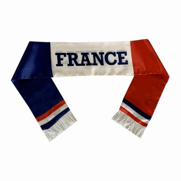 Kundenspezifisches Design Satin France National Flag Schal