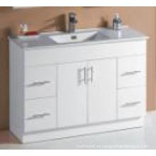 Blanco brillante MDF vajilla de baño de ventas caliente (UV6027-1200W)