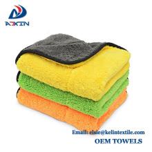 Dupla face colorido microfibra coral fleece carro secagem pano toalha