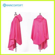 100% Polyester Regen Poncho mit PVC Kapuze für Biker
