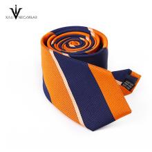 Handgemachte italienische modische dünne gewebte Polyester-Krawatte für Männer