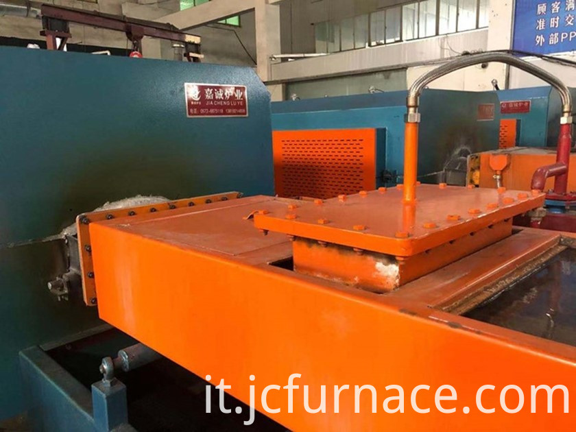 Roller net belt tempering furnace