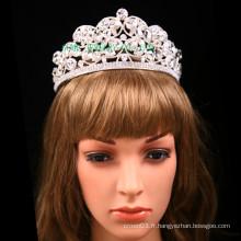 Big Clear Stone Tiara Wedding strass Crown