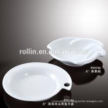 China supplier buena calidad hotel porcelana vajilla platos de cena
