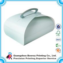 Impresión de la caja de pastel al por mayor de lujo de la caja de la magdalena de la nueva de la impresión