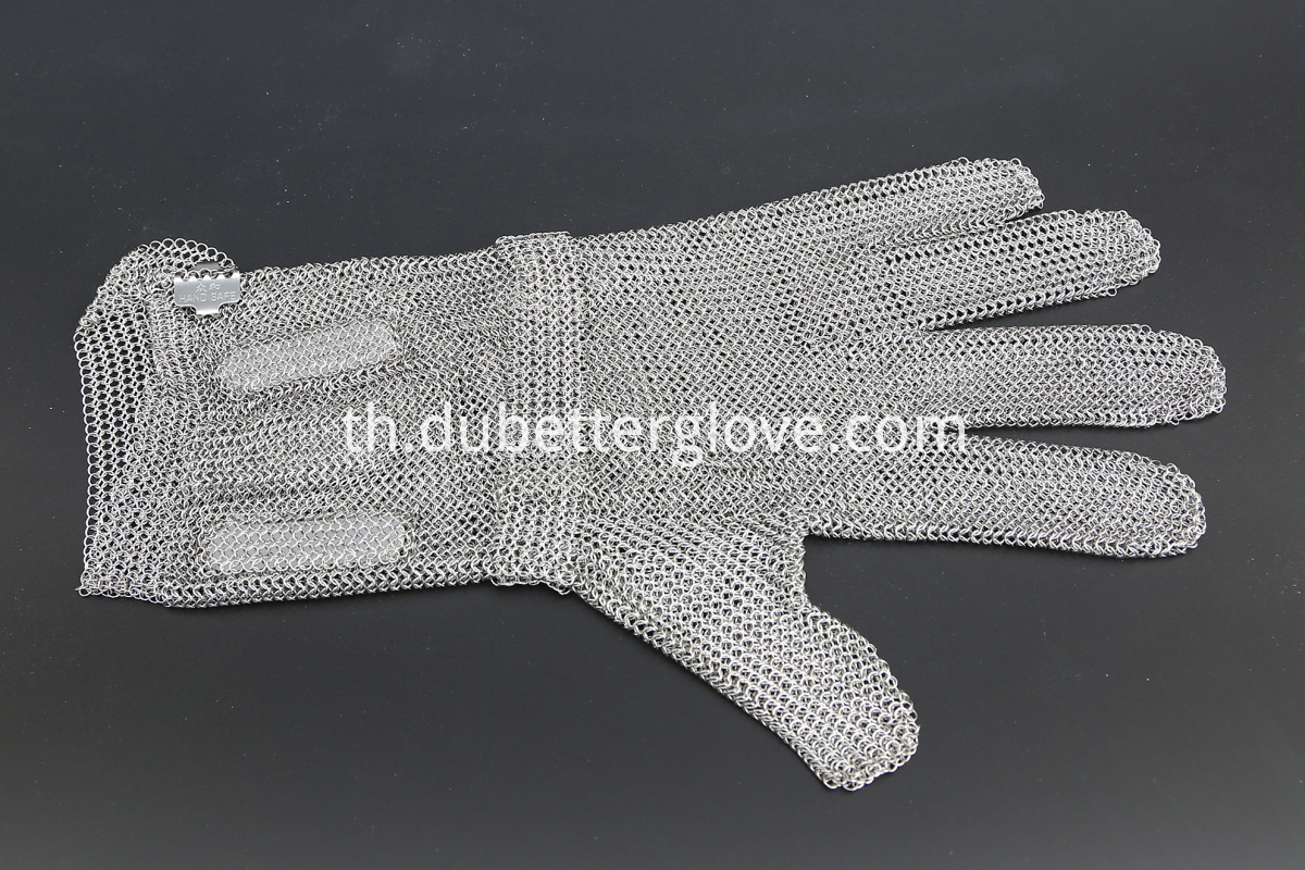 Dubetter ring mesh gloves with long cuff