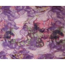 10% Cashmere 90% Impressão Modal Púrpura
