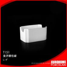 hat China liefert weiße Geschirr feine günstige Porzellan Zucker pack
