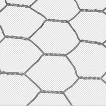 Hexagonal 2x1x1m Galvanized Rock Gabion Protective Mesh