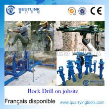 Portable Leistungsstarke Pneumatische Rock Drill für Vertikale Wet & Dry Bohren