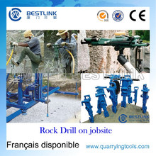 Portable Powerful Pneumatic Rock Drill for Vertical Wet&Dry Drilling