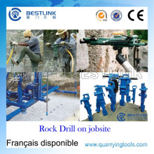 Broca de rocha pneumática poderosa portátil para a perfuração molhada & seca vertical