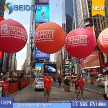 OEM Advertising Balloons PVC Walking Lighting Balls Inflatable Backpack Balloon