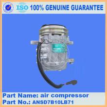 Komatsu spare parts PC50MR-2 air compressor ANSD7B10LB71 for air conditioner parts