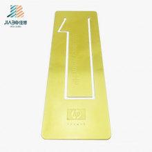 Marcador feito sob encomenda do retângulo do logotipo do ouro do cobre do fornecedor do ouro para a promoção