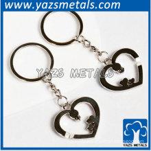 metal heart-shaped keychain