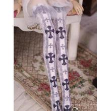 BJD Lady Impresso meias altas para boneca SD
