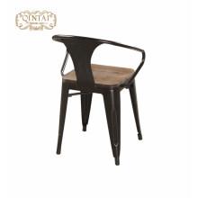 Sillas de comedor armest con asiento de madera / Sillón comedor de metal Marais / Silla Marai Cafe con recubrimiento de polvo