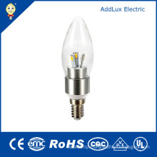 220V CE UL SMD 3W E14 LED Candle Bulb