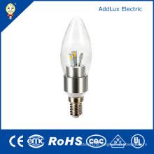Bulbo da vela do diodo emissor de luz do UL SMD 3W E14 do CE 220V