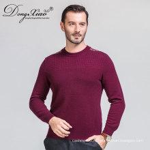 Китай завод экипаж шеи плеча полосы вязать мужчины свитер пуловер 2017 с конкурентоспособной ценой