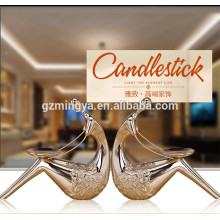 Romantic resin material indoor decorative statue home decoration resin candle holder