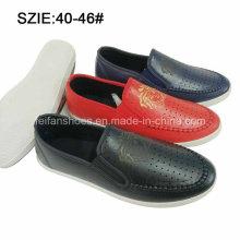 Слип новый стиль мода Мужской дышащий свободного покроя кожаные ботинки (MP16721-18)