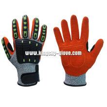 13G Hppe Liner Sandy Finish Nitril Palm TPR Arbeitshandschuh