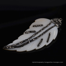 Hot Sell Mother of Pearl Leave Leaf Accrssory Pendant Necklace Charms