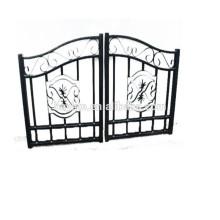 Entrada ornamental deslizante de alta calidad decorativa puerta de hierro forjado