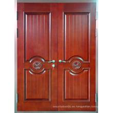 Panel de diseño de acero de seguridad doble puerta