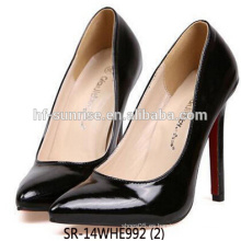 Zapatos del tacón alto de las señoras SR-14WHE992 zapatos baratos del alto talón zapatos modernos del alto talón
