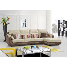 Sofá de canto de tecido de móveis de sala de estar
