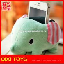 мягкие милые плюшевые сотовый слон держатель мобильного телефона