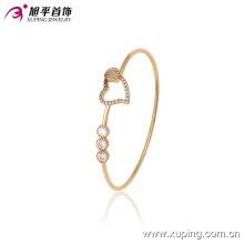 51392 Xuping moda mujer en forma de corazón brazalete con buen diseño para mujeres regalos