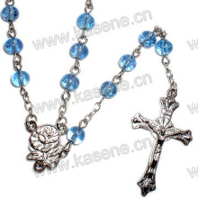 Wholesale 6mm Glass Round Beads Religious Rosary Necklace