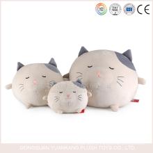 YK ICTI pequeno tamanho china fabricante recheado plush cat ball stuffed toy