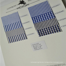 Yarn dyed 100% cotton stripe and checks latest shirts pattern for men