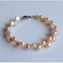 2 строки монеты пресной воды Pearl браслет (EB1520-1)