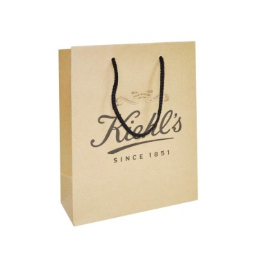 Custom Design Impresso Compras Brown Kraft Paper Bag
