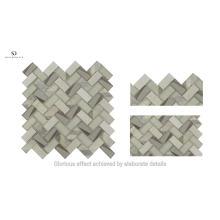 New Arrival Laminated Glass Herringbone Mosaic Tile For Wall