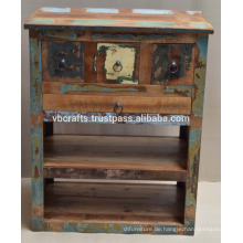 Recycling Holz Schubladenschrank