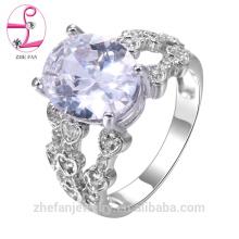 Fábrica de jóias profissional anel de diamante 18 k ouro branco atacado 18k anel de ouro rosa