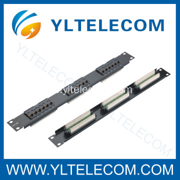 1U 19 pulgadas 18port Patch Panel Cat5e y Cat6 tipo