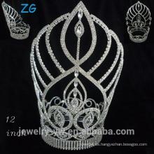 Moda Una tiara cristalina nivelada de la aleación de la tiara del desfile