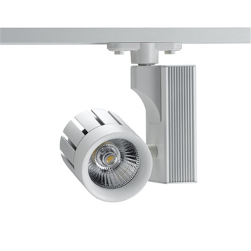Vit LED spårlampa med COB Sharp